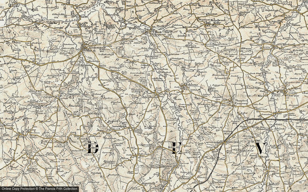 Old Map of Historic Map covering Woodhall Bridge in 1899-1900