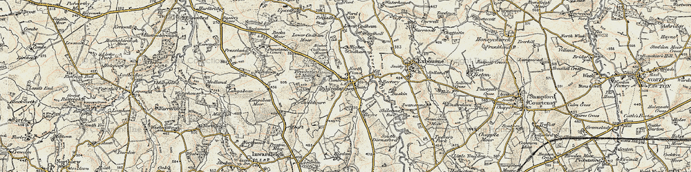 Old map of Westdown in 1899-1900