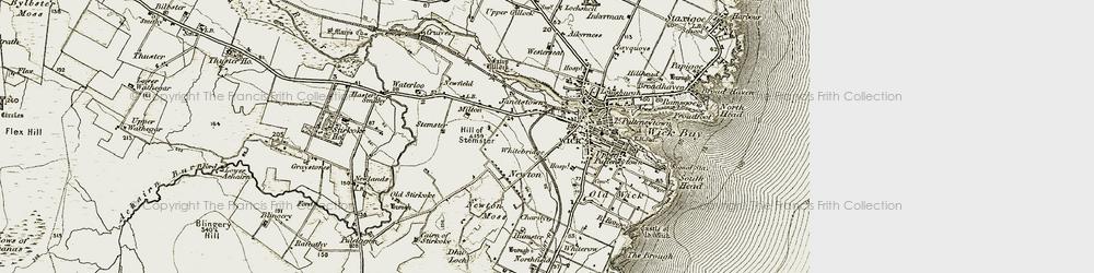 Old map of Whitebridge in 1912