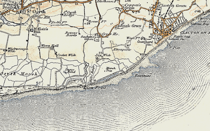 Old map of Jaywick in 0-1898