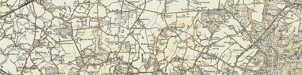 Old map of Westleymill in 1897-1909