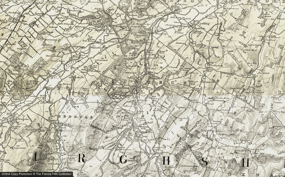 Old Map of Historic Map covering Woodend in 1901-1904