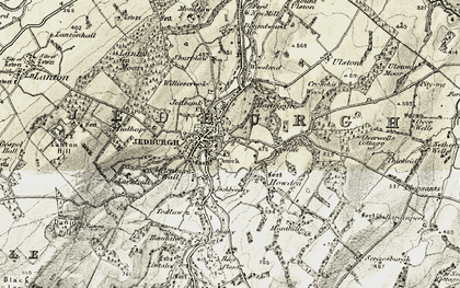 Old map of Williescrook in 1901-1904