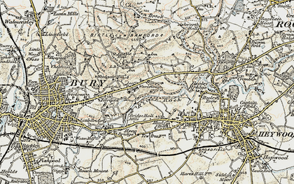 Old map of Jericho in 1903