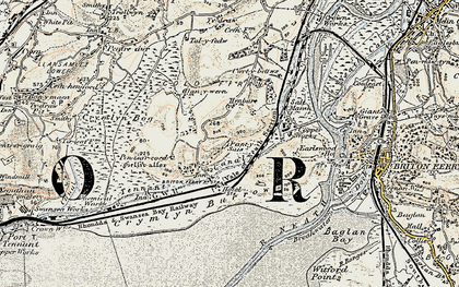 Old map of Jersey Marine in 1900-1901