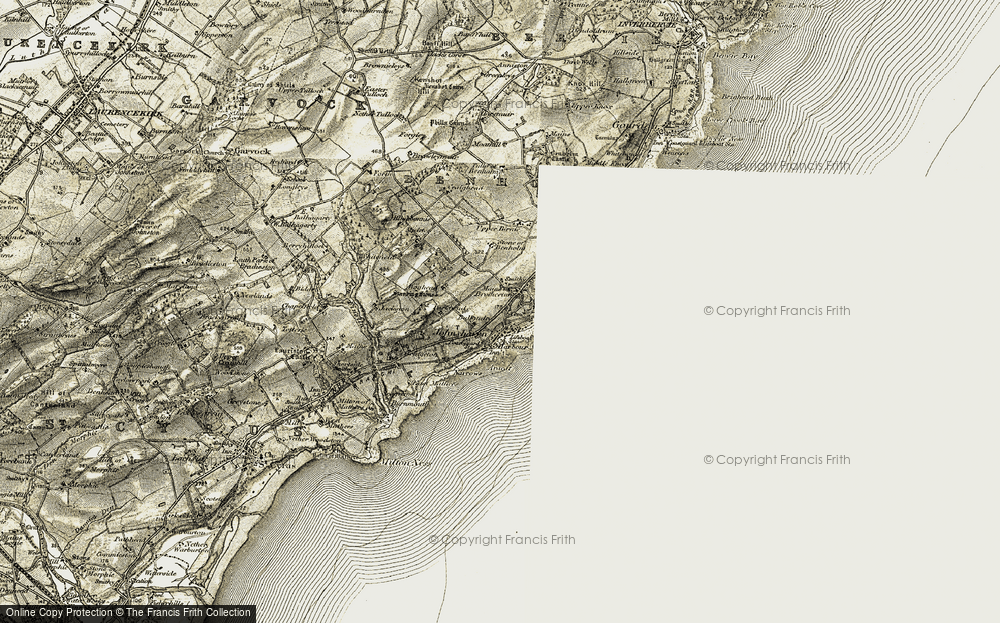 Old Map of Historic Map covering Balandro in 1908