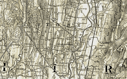 Old map of Tippet's Belt in 1901-1904