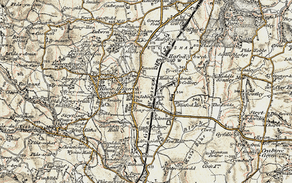 Old map of Johnstown in 1902