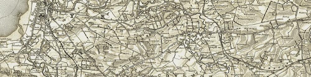 Old map of Westpark in 1904-1906