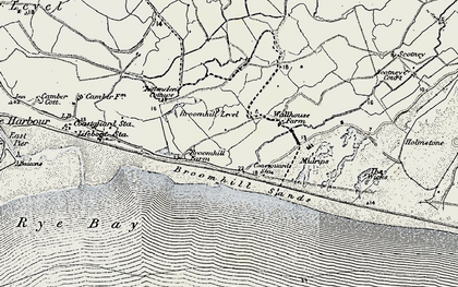 Old map of Wicks, The in 1898