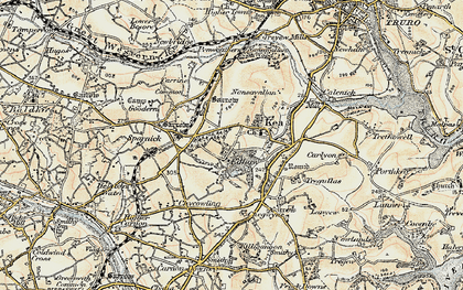 Old map of Kea in 1900