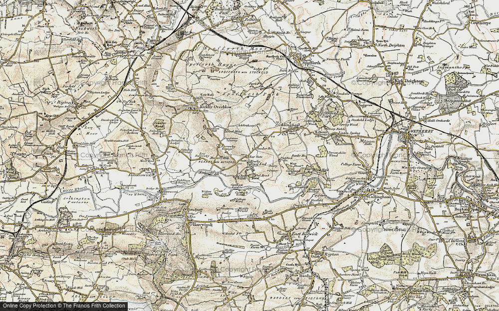 Old Map of Historic Map covering Addlethorpe Grange in 1903-1904