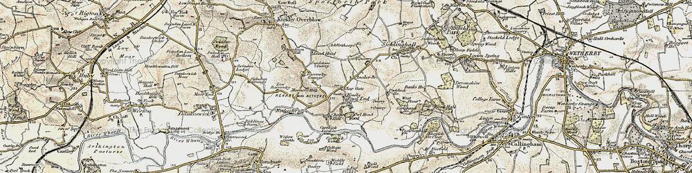 Old map of Addlethorpe Grange in 1903-1904
