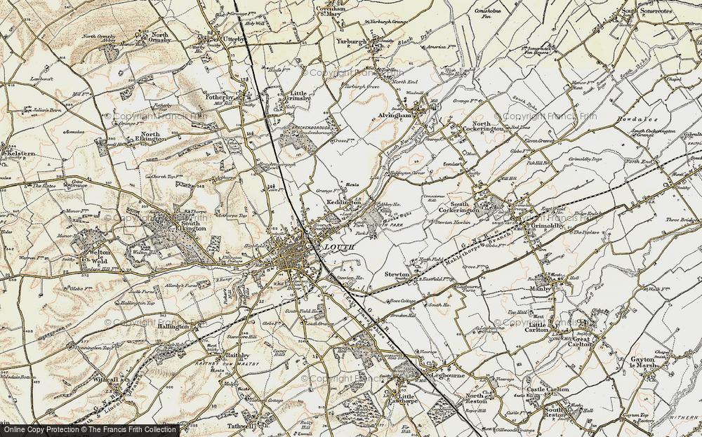 Old Map of Keddington, 1903 in 1903