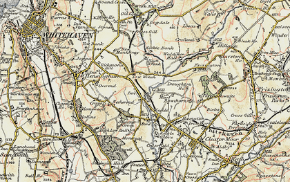 Old map of Wreah in 1901-1904