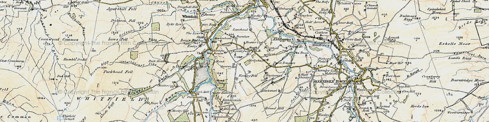 Old map of Lanehead in 1901-1904