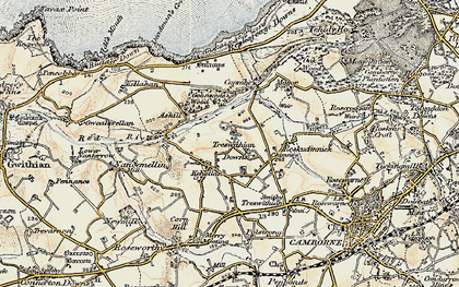 Old map of Kehelland in 1900