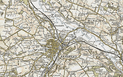 Old map of Keighley in 1903-1904