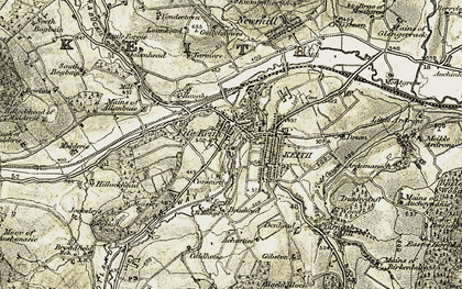 Old map of Keith in 1910
