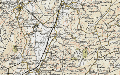 Old map of Kelbrook in 1903-1904