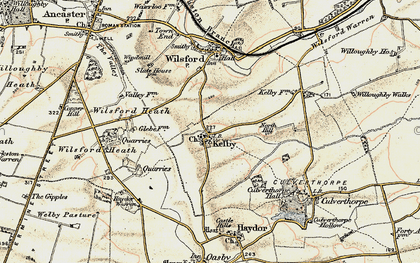 Old map of Wilsford Heath in 1902-1903