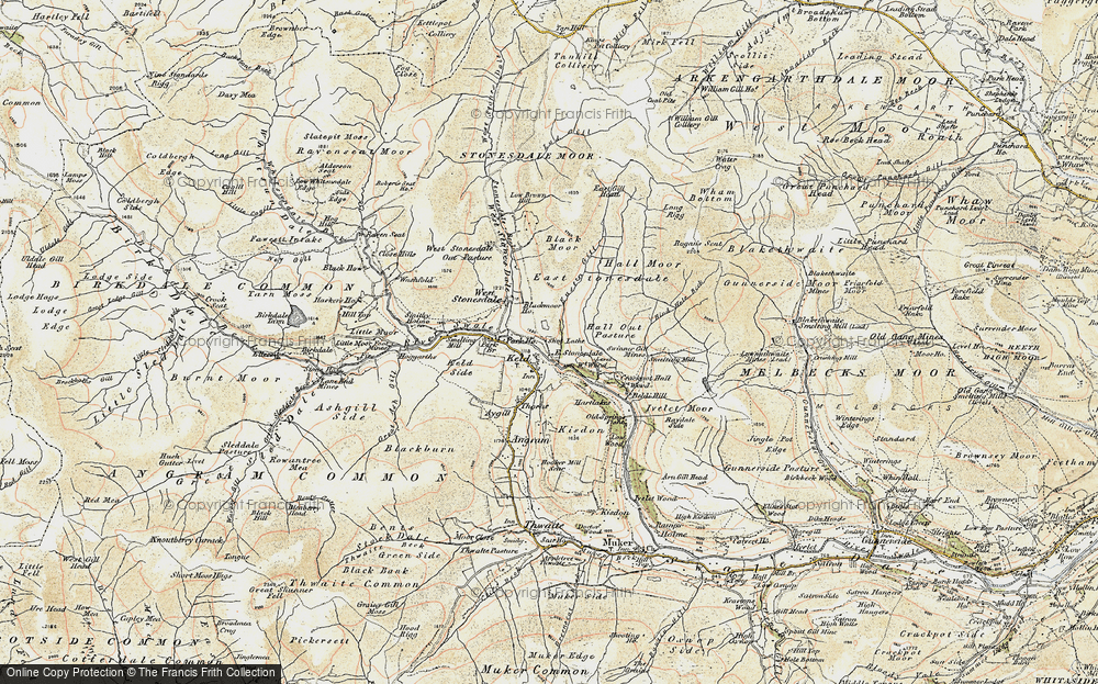 Old Map of Keld, 1903-1904 in 1903-1904