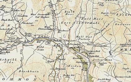 Old map of Keld in 1903-1904