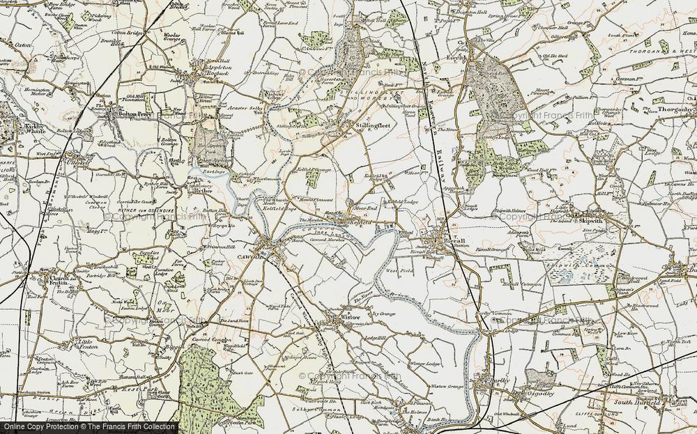 Old Map of Kelfield, 1903 in 1903