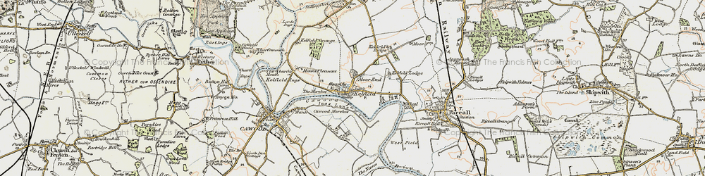 Old map of Wheel Hall in 1903