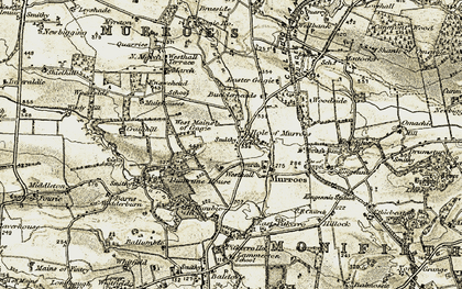 Old map of Westhall in 1907-1908