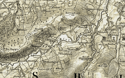 Old map of Allt Creach in 1910-1911
