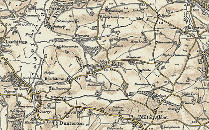 Old map of Winbrook in 1899-1900