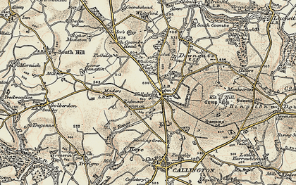 Old map of Kelly Bray in 1899-1900