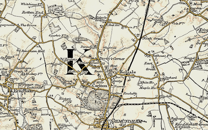 Old map of Kelsale in 1898-1901