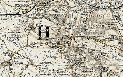 Old map of Kelsall in 1902-1903
