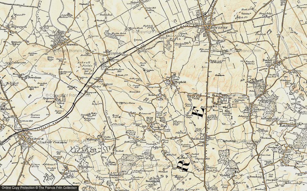 Old Map of Historic Map covering Woodcotes in 1898-1901