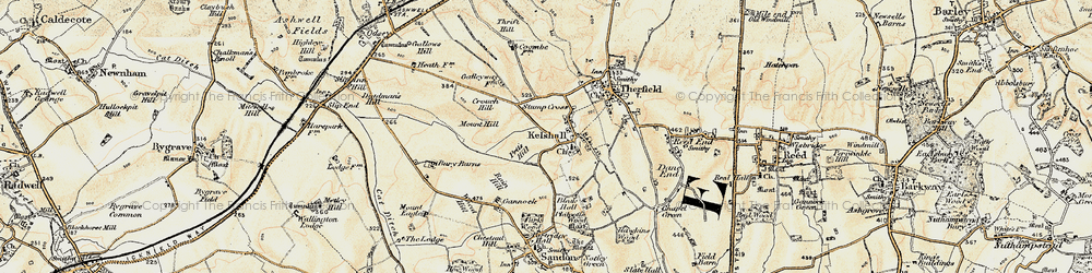 Old map of Woodcotes in 1898-1901