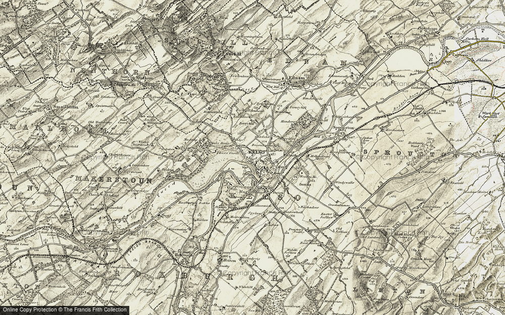 Old Map of Historic Map covering Wooden Mill in 1901-1904