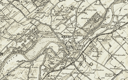 Old map of Wooden Mill in 1901-1904