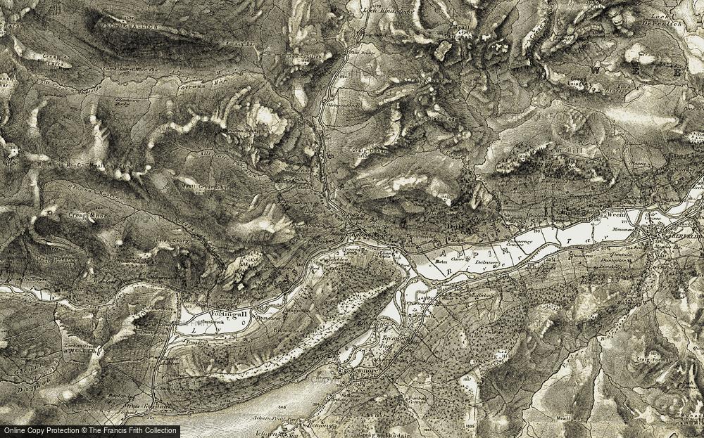 Old Map of Keltneyburn, 1906-1908 in 1906-1908