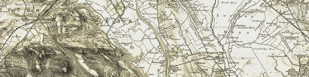 Old map of Whinnyhill in 1901-1905