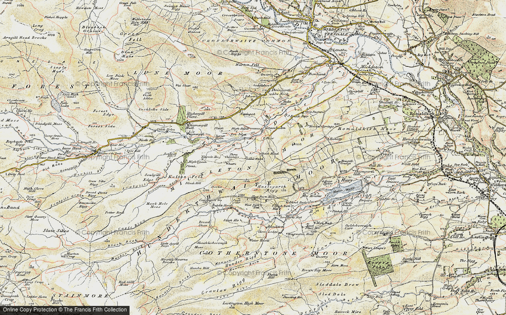 Old Map of Historic Map covering Balder Head in 1903-1904