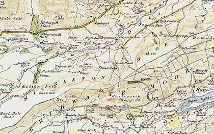 Old map of Balderhead Reservoir in 1903-1904
