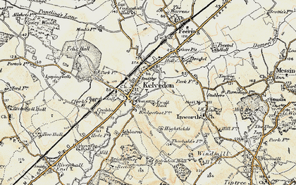 Old map of Kelvedon in 1898-1899