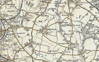 Old map of Kemberton in 1902