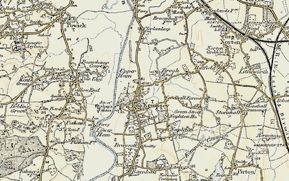 Old map of Kempsey in 1899-1901