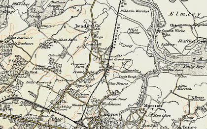 Old map of Kemsley in 1897-1898