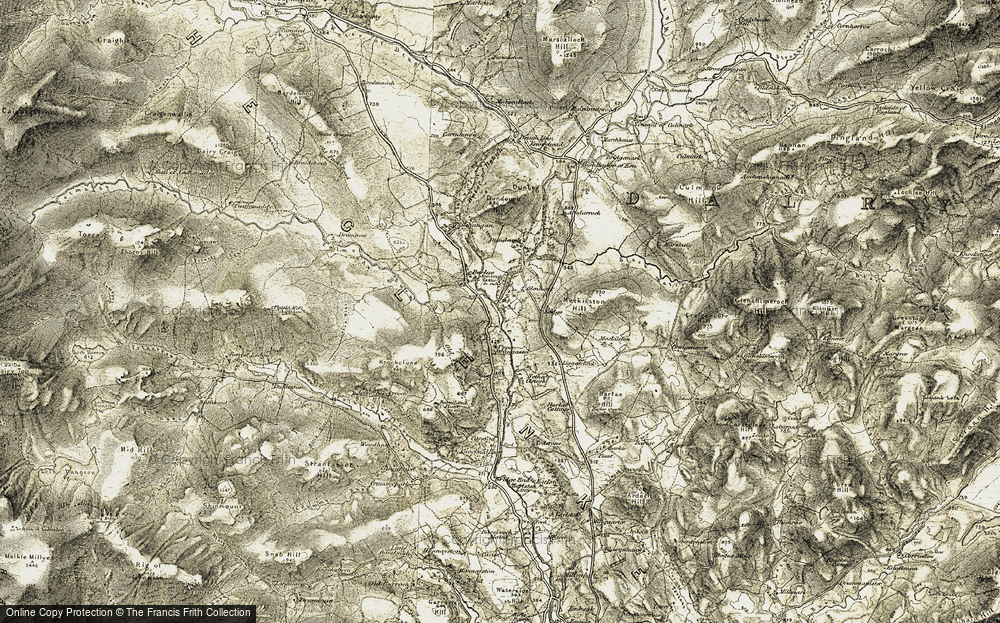 Old Map of Historic Map covering Barlaes Hill in 1904-1905