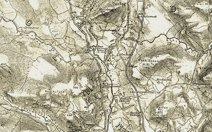 Old map of Todstone in 1904-1905