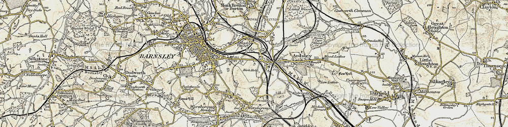 Old map of Kendray in 1903
